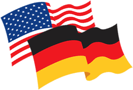 German Flag, American Flag